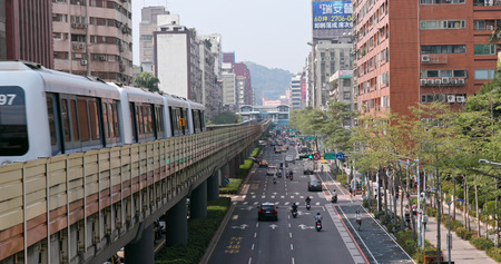 Taipei city, Taiwan, 28 May 2018:- Taipei city traffic Фото со стока - 120826717