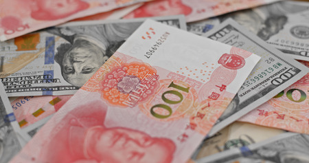 RMB and USD banknote