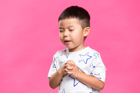 Asian little boy praying Reklamní fotografie
