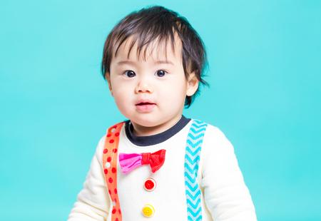 Asian little  boy