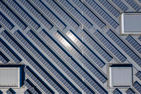 Solar Power Panel auf dem Dach