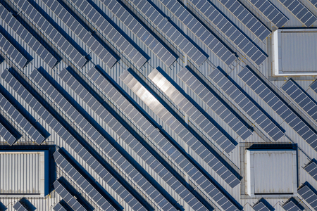 Solar Power panel on the roof top