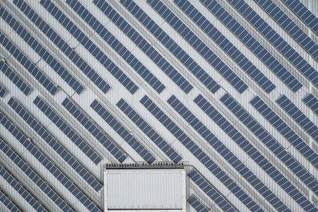 Draufsicht des Solarpanels Standard-Bild