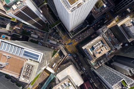 Top view of Hong Kong traffic Stock Photo