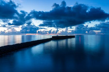 Beautiful sea with sunset