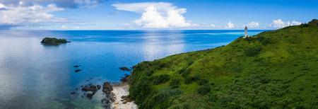 Panoramic of Tropical lagoon of Ishigaki island of Okinawa