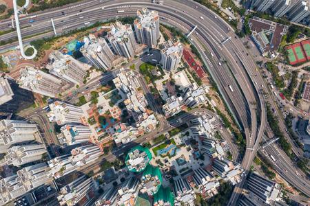 aerial Top view of Hong Kong city Zdjęcie Seryjne