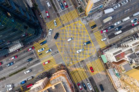 Sham Shui Po, Hong Kong 19 marzo 2019: Traffico nella città di Hong Kong