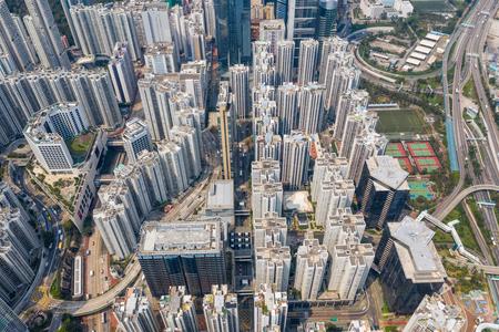 Tai Koo, Hong Kong 19 March 2019: Aerial view of Hong Kong city