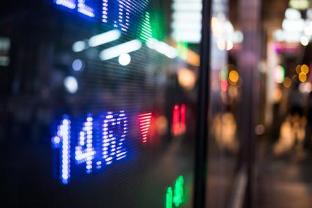 Stock market price display Imagens
