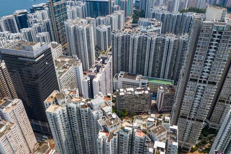 Quarry bay, Hong Kong 19 March 2019: Hong Kong city Zdjęcie Seryjne