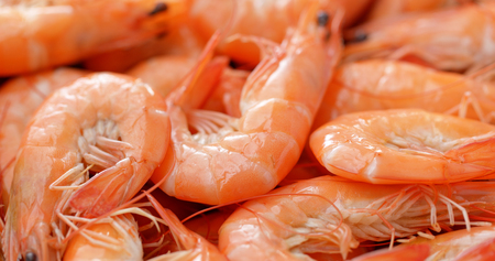 Fresh cooked shrimp