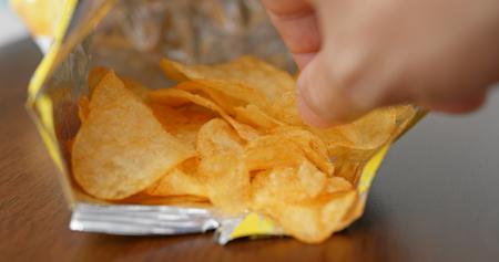 Potato chip in pack Reklamní fotografie
