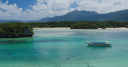 Kabira Bay in ishigaki island in japan
