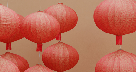 Chinese red lantern for mid autumn festival