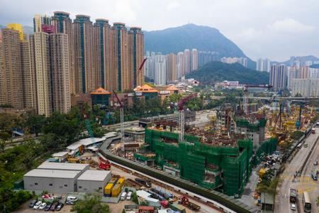 Diamond Hill, Hong Kong 11 April 2019: Hong Kong urban city
