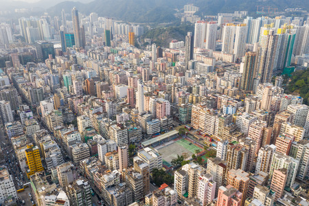 Sham Shui Po, Hong Kong 19 March 2019: Hong Kong city Stock Photo