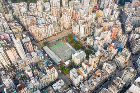 Sham Shui Po, Hong Kong 18 March 2019: Hong Kong downtown 写真素材