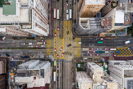 Mong Kok, Hong Kong 21 March 2019: Hong Kong city from top Banco de Imagens