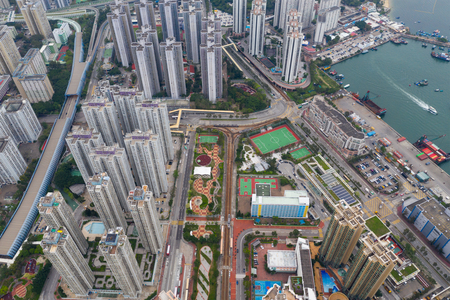 Tuen Mun, Hong Kong 30 March 2019: Hong Kong city 免版税图像