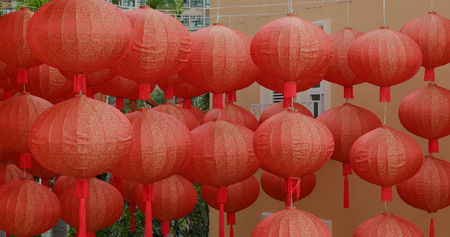 Traditional Chinese lantern for mid autumn festival