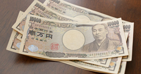Counting Japanese Yen banknote