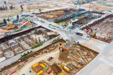 Kai Tak, Hong Kong 03 April 2019: Construction site 免版税图像