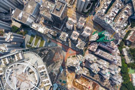 Tai Koo, Hong Kong 19 March 2019: Top view of Hong Kong city