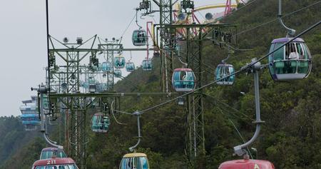 Wong Chuk Hang, Hong Kong, 19 October 2018:- Cable car in ocean park at Hong Kong