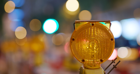 Yellow caution light