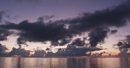 Sunrise skyline and sea