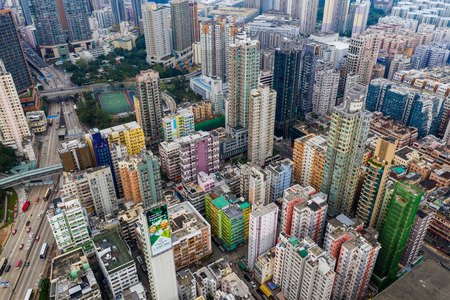 Hung Hom, Hong Kong 21 April 2019: Hong Kong urban city