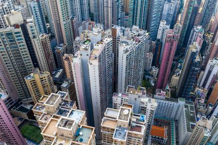 Top view of Hong Kong city Banco de Imagens
