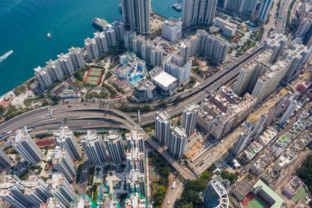 Top view of Hong Kong city Zdjęcie Seryjne