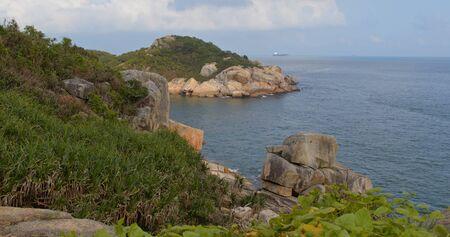Beautiful hiking trail with the sea