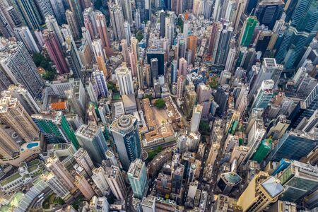 Central, Hong Kong, 30 April 2019: Top down view of Kong city