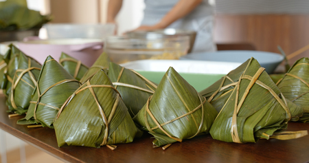 Homemade rice dumpling for Chinese dragon boat festival