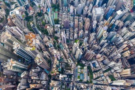 Central, Hong Kong 29 April 2019: Aerial view of Hong Kong city