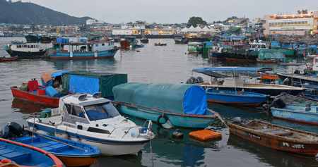 Cheung chau, Hong Kong, 24 April 2019: Cheung chau island in the evening