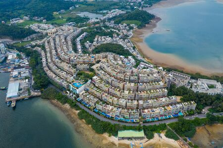 Aerial view of Hong Kong residential city