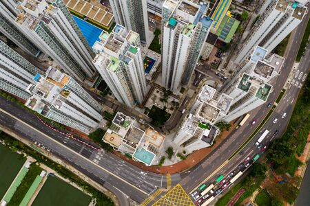 Aerial view Hong Kong residential district