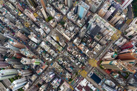 Aerial view of Hong Kong city
