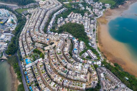 top view of Hong Kong residential district 版權商用圖片