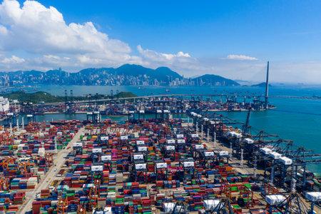 Kwai Chung, Hong Kong 15 May 2019: Kwai Chung Cargo Terminal in Hong Kong city