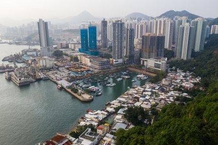 Lei Yue Mun, Hong Kong 22 May 2019: Top view of Hong Kong city 新聞圖片