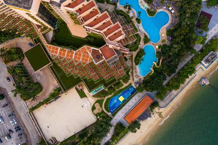Tuen mun, Hong Kong 16 May 2019: Top view of Hong Kong castle peak bay Editorial