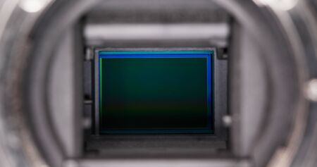 Digital Camera sensor close up Stockfoto