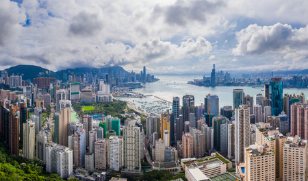 Hong Kong 01 giugno 2019: città di Hong Kong Editoriali