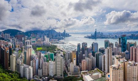 Hong Kong 01 June 2019: Hong Kong city Redactioneel