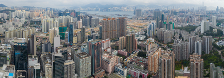 To kwa Wan, Hong Kong 17 May 2019: Aerial view of Hong Kong city